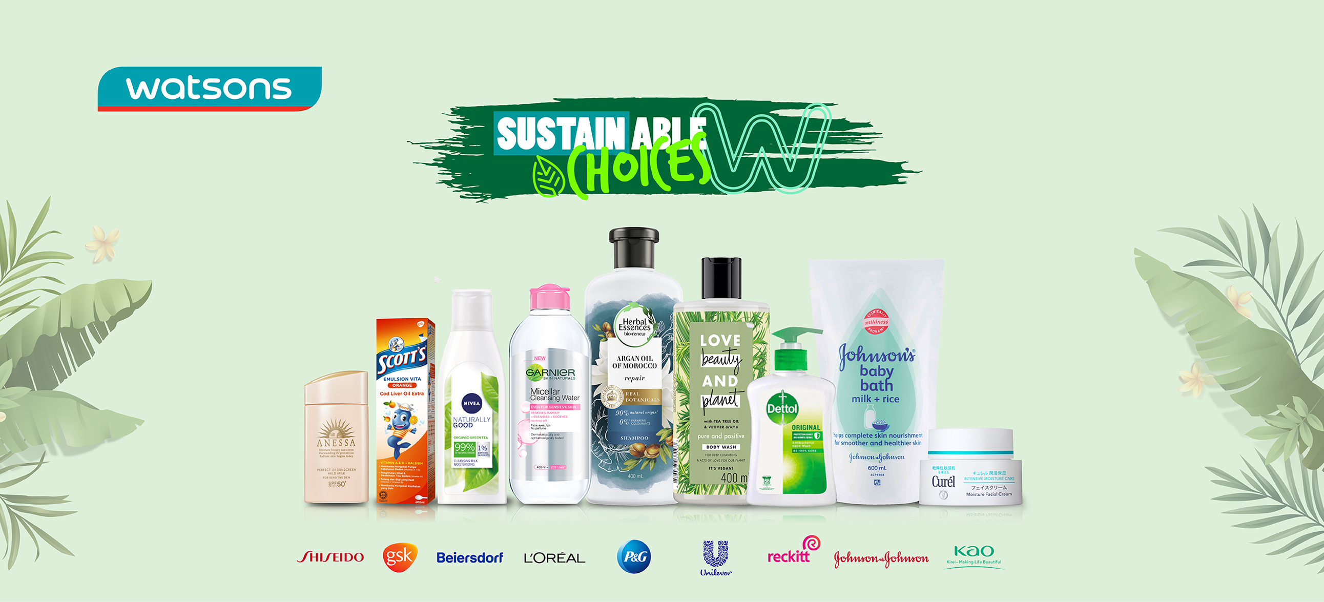 Watsons Sustsainable Choices Banner Watsons Collaborates with Global Supplier Partners to Launch Over 1,600 Sustainable Choices